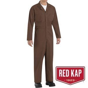 Red Kap Men's Twill Action Back Coverall, Brown 46
